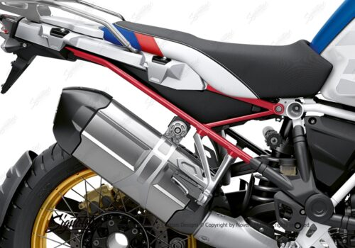 BFS 3353 BMW R1250GS Adventure 2019 Style HP Lupine Blue Subframe Wrap Styling Kit Red 02