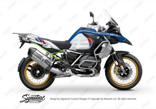 BFS 3353 BMW R1250GS Adventure 2019 Style HP Lupine Blue Subframe Wrap Styling Kit Toxic Green 01