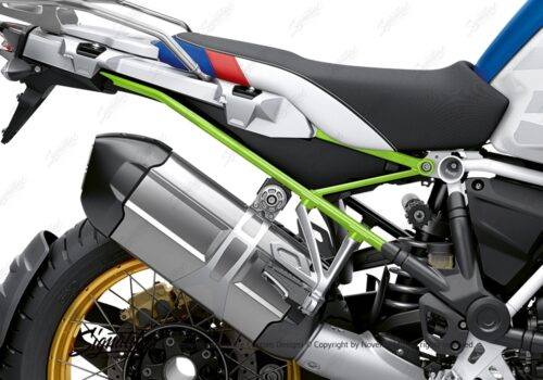 BFS 3353 BMW R1250GS Adventure 2019 Style HP Lupine Blue Subframe Wrap Styling Kit Toxic Green 02