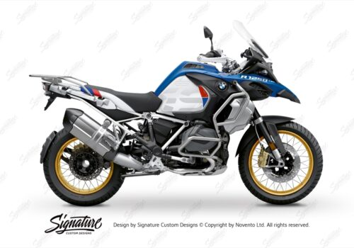 BFS 3353 BMW R1250GS Adventure 2019 Style HP Lupine Blue Subframe Wrap Styling Kit White 01