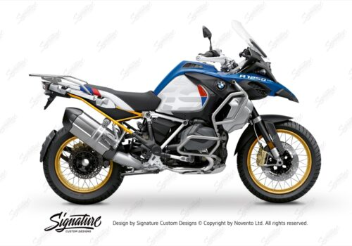 BFS 3353 BMW R1250GS Adventure 2019 Style HP Lupine Blue Subframe Wrap Styling Kit Yellow 01