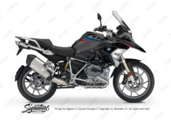 BKIT 3354 BMW R1200GS LC Black Storm Metallic Vivo Series Red Blue Stickers Kit 01