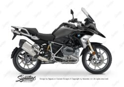 BKIT 3356 BMW R1200GS LC Black Storm Metallic Vivo Series Grey Variations Stickers Kit 01