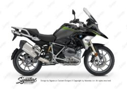 BKIT 3357 BMW R1200GS LC Black Storm Metallic Vivo Series Toxic Green Grey Stickers Kit 01