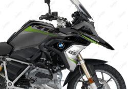 BKIT 3357 BMW R1200GS LC Black Storm Metallic Vivo Series Toxic Green Grey Stickers Kit 02