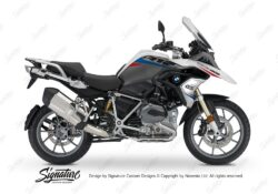BKIT 3358 BMW R1200GS LC Alpine White Vivo Series Red Blue Stickers Kit 01