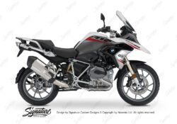 BKIT 3359 BMW R1200GS LC Alpine White Vivo Series Red Grey Stickers Kit 01