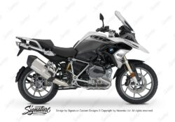 BKIT 3360 BMW R1200GS LC Alpine White Vivo Series Grey Variations Stickers Kit 01