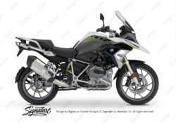 BKIT 3361 BMW R1200GS LC Alpine White Vivo Series Toxic Green Grey Stickers Kit 01