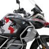 BKIT 3398 BMW R1250GS Adventure Ice Grey The Globe Red Grey Black Stickers Kit 02