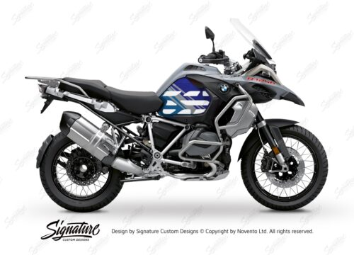 BSTI 3408 BMW R1250GS Adventure Ice Grey Anniversary Limited Edition Tank Stickers Blue Variations 01