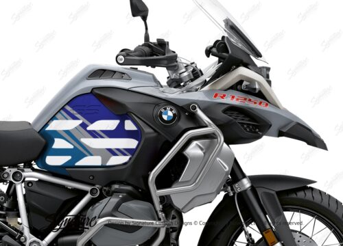 BSTI 3408 BMW R1250GS Adventure Ice Grey Anniversary Limited Edition Tank Stickers Blue Variations 02