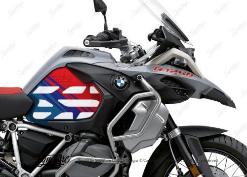 BSTI 3408 BMW R1250GS Adventure Ice Grey Anniversary Limited Edition Tank Stickers Msport 02