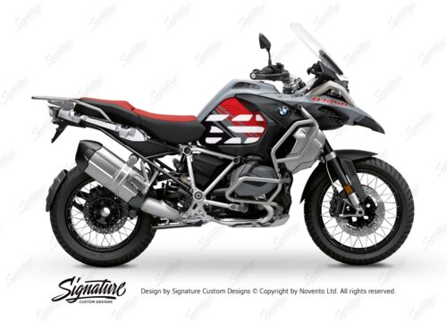 BSTI 3408 BMW R1250GS Adventure Ice Grey Anniversary Limited Edition Tank Stickers Red Black 01