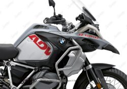 BSTI 3411 BMW R1250GS Adventure Ice Grey Side Tank ADV Stickers Red
