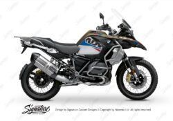 BKIT 3545 BMW R1250GS Adventure Style Exclusive Alive Red Blue Stickers Kit 01