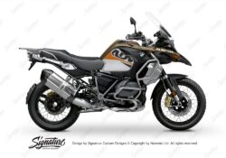 BKIT 3547 BMW R1250GS Adventure Style Exclusive Alive Orange Black Stickers Kit 01