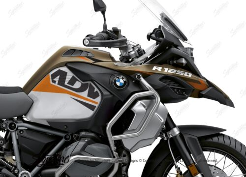 BKIT 3547 BMW R1250GS Adventure Style Exclusive Alive Orange Black Stickers Kit 02