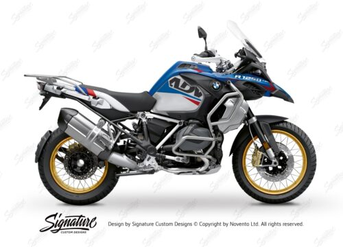BKIT 3548 BMW R1250GS Adventure Style HP Alive Red Blue Stickers Kit 01