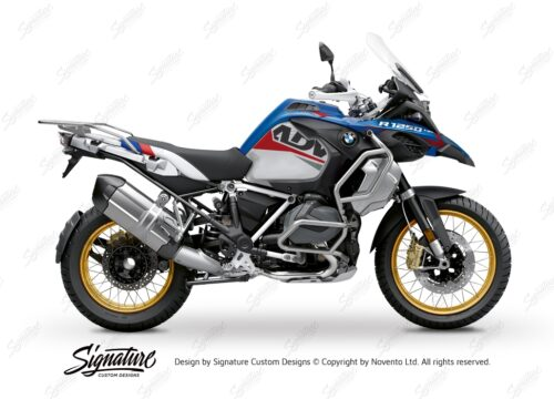 BKIT 3550 BMW R1250GS Adventure Style HP Alive Red Grey Stickers Kit 01