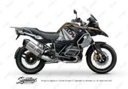BKIT 3565 BMW R1250GS Adventure Style Exclusive Spike Grey Black Stickers Kit 01
