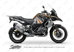 BKIT 3566 BMW R1250GS Adventure Style Exclusive Spike Orange Black Stickers Kit 01