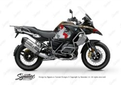 BKIT 3571 BMW R1250GS Adventure Style Exclusive The Globe Red Grey Stickers Kit 01