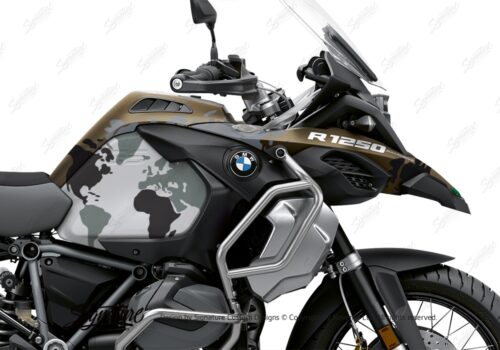 BKIT 3572 BMW R1250GS Adventure Style Exclusive The Globe Black Grey Stickers Kit 02