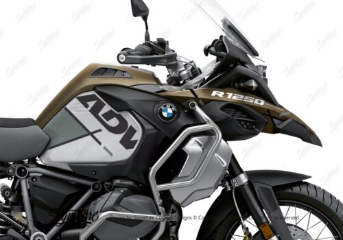 BKIT 3577 BMW R1250GS Adventure Style Exclusive Vector Grey Stickers Kit 02