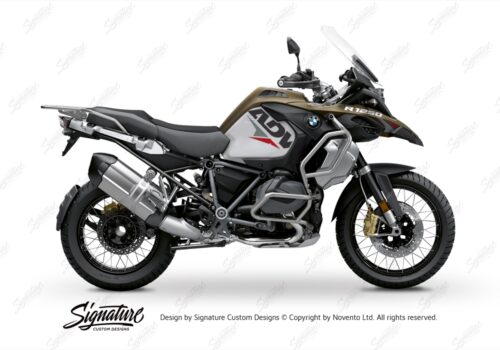 BKIT 3584 BMW R1250GS Adventure Style Exclusive Velos Red Grey Stickers Kit 01