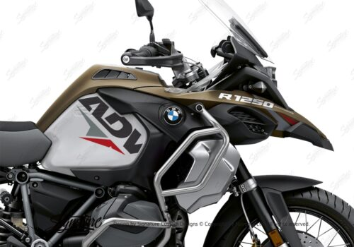 BKIT 3584 BMW R1250GS Adventure Style Exclusive Velos Red Grey Stickers Kit 02
