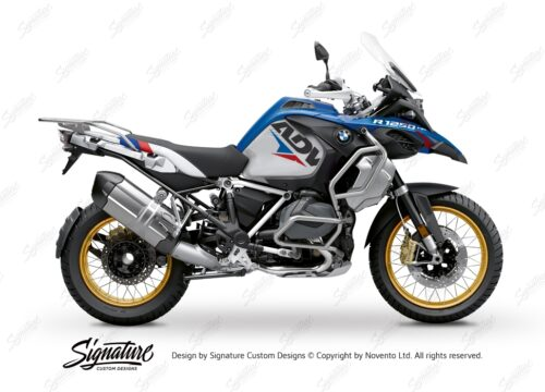 BKIT 3585 BMW R1250GS Adventure Style HP Velos Red Blue Stickers Kit 01