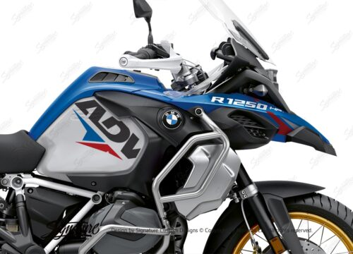 BKIT 3585 BMW R1250GS Adventure Style HP Velos Red Blue Stickers Kit 02