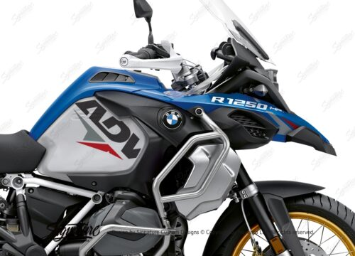 BKIT 3587 BMW R1250GS Adventure Style HP Velos Red Grey Stickers Kit 02