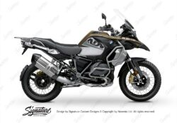BKIT 3589 BMW R1250GS Adventure Style Exclusive Vivo Grey Black Stickers Kit 01