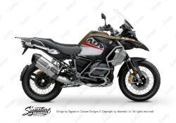 BKIT 3590 BMW R1250GS Adventure Style Exclusive Vivo Red Grey Stickers Kit 01