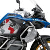 BKIT 3606 BMW R1250GS Adventure Style HP The Globe Red Grey Side Tank Stickers Kit 02