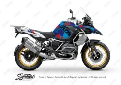 BKIT 3608 BMW R1250GS Adventure Style HP M90 Blue Red Camo Full Wrap 01