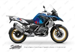 BKIT 3609 BMW R1250GS Adventure Style HP M90 Blue Red Camo Side Tank Wrap 01