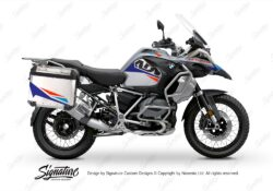 BSTI 3453 BMW R1250GS Adventure Pannier Alive Royal Blue Light Blue Fluo Red Stickers Kit 01