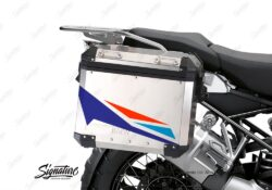 BSTI 3453 BMW R1250GS Adventure Pannier Alive Royal Blue Light Blue Fluo Red Stickers Kit 02
