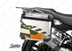 BSTI 3487 BMW R1250GS Adventure Pannier M90 Camo Military Orange Stickers Kit 02