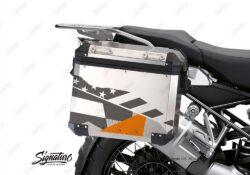 BSTI 3488 BMW R1250GS Adventure Pannier M90 Camo Grey Orange Stickers Kit 02