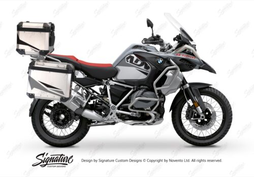 BSTI 3491 BMW R1250GS Adventure Top Box Alive Grey Variations Stickers Kit 01