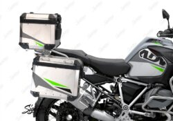 BSTI 3492 BMW R1250GS Adventure Top Box Alive Grey Fluo Green Stickers Kit 02