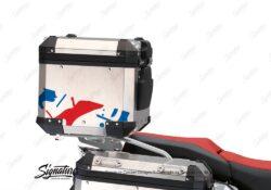 BSTI 3500 BMW R1250GS Adventure Top Box Safari Red Blue Stickers Kit 03