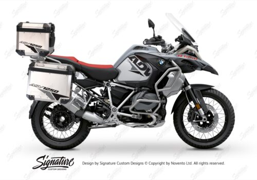 BSTI 3520 BMW R1250GS Adventure Top Box Velos Grey Black Stickers Kit 01