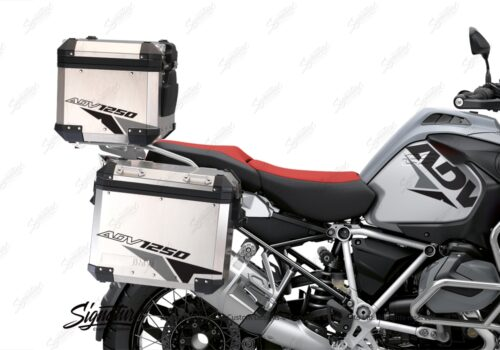 BSTI 3520 BMW R1250GS Adventure Top Box Velos Grey Black Stickers Kit 02