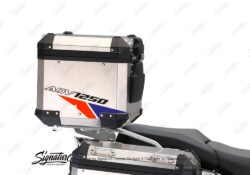 BSTI 3523 BMW R1250GS Adventure Top Box Velos Royal Blue Light Blue Fluo Red Stickers Kit 03
