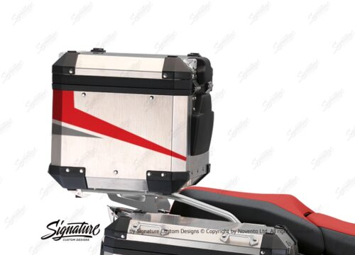 BSTI 3525 BMW R1250GS Adventure Top Box Vivo Red Grey Stickers Kit 03
